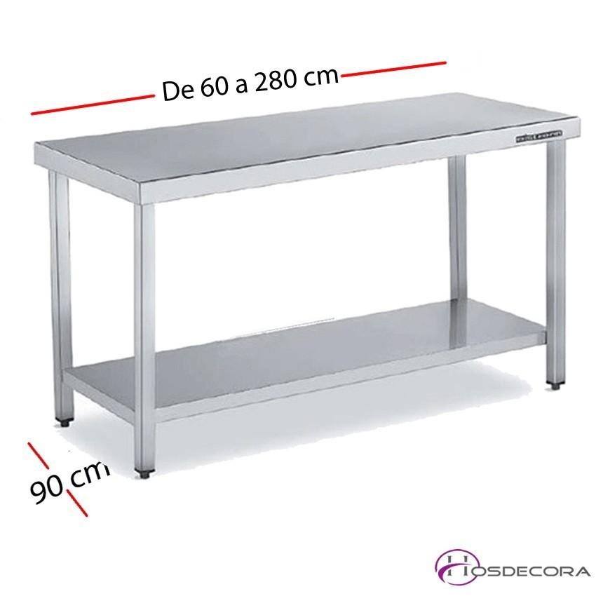 Mesa de trabajo ancha con estante debajo fondo 90 cm