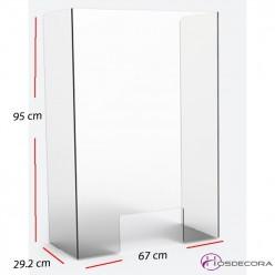 Mampara de protección con ventanilla 67 x 95 cm