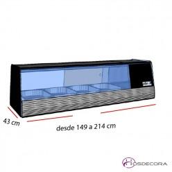 Vitrinas de bar para cubetas refrigerada GN 1/1 desde 149 cm