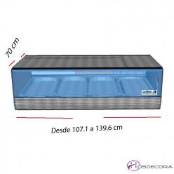 Vitrinas calientes de bar GN 1/1 desde 107cm