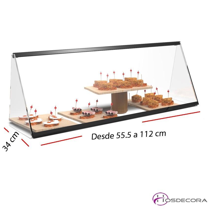 Vitrina de cristal neutra desde 55.5 a 112 cm