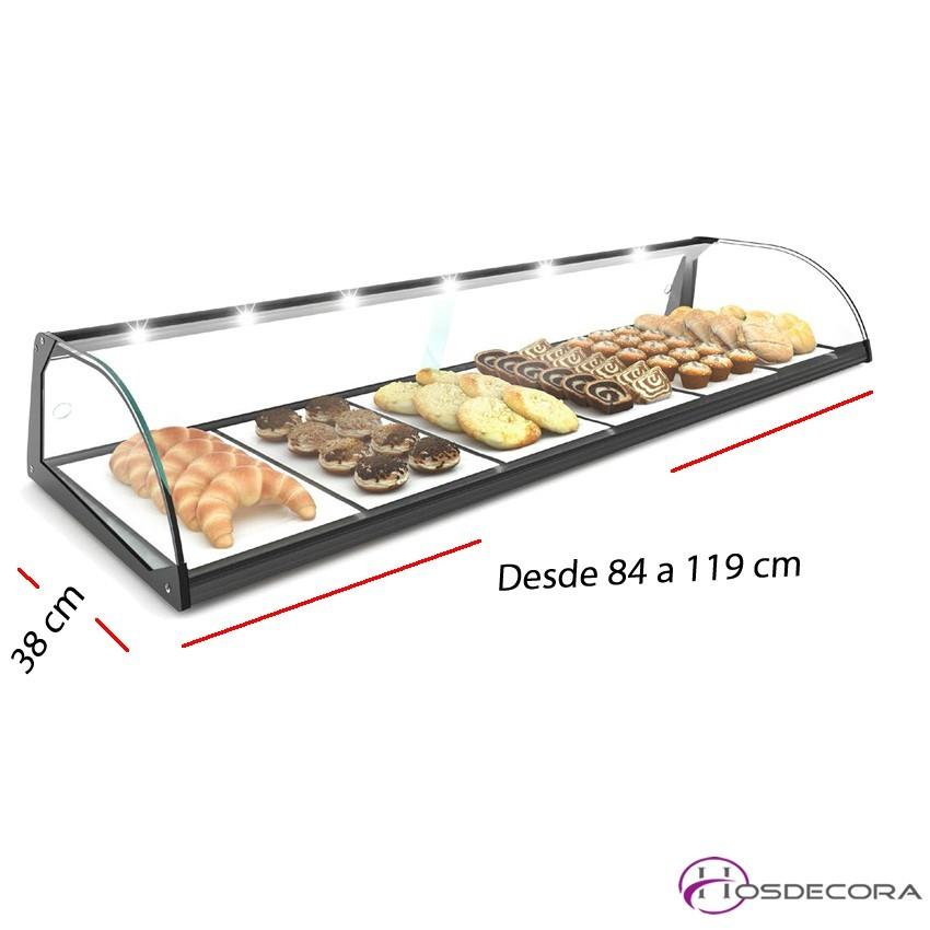 Vitrina de cristal neutra desde 84 a 119 cm.
