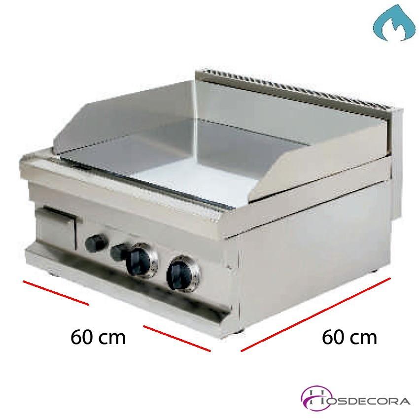 Plancha a gas cromo duro 15 mm. 40 x 60 cm 47-GG604C