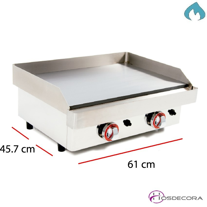 Plancha a gas acero 15 mm. 40 x 60 cm 47-GG604R