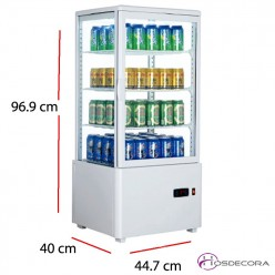 Expositor vertical 4 caras cristal 200 W - 58 L 47-XC58L