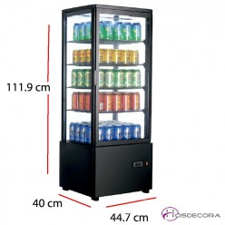 Expositor frio vertical 4 caras cristal 200 W - 98 L 47-XC98L