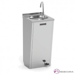 Lavamanos con pulsador dos aguas 40 x 40 cm