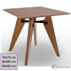 Mesa de Madera Casarrubios cuadrada desde 60 cm
