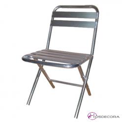 silla de terraza económica en aluminio