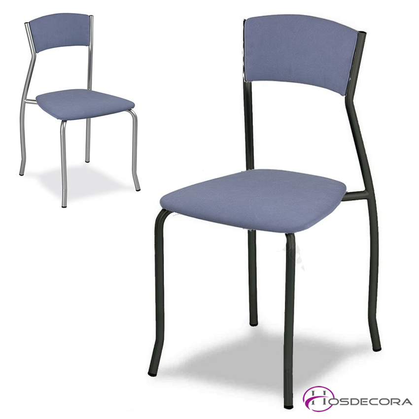 Silla de bar asiento y respaldo tapizado - GINES