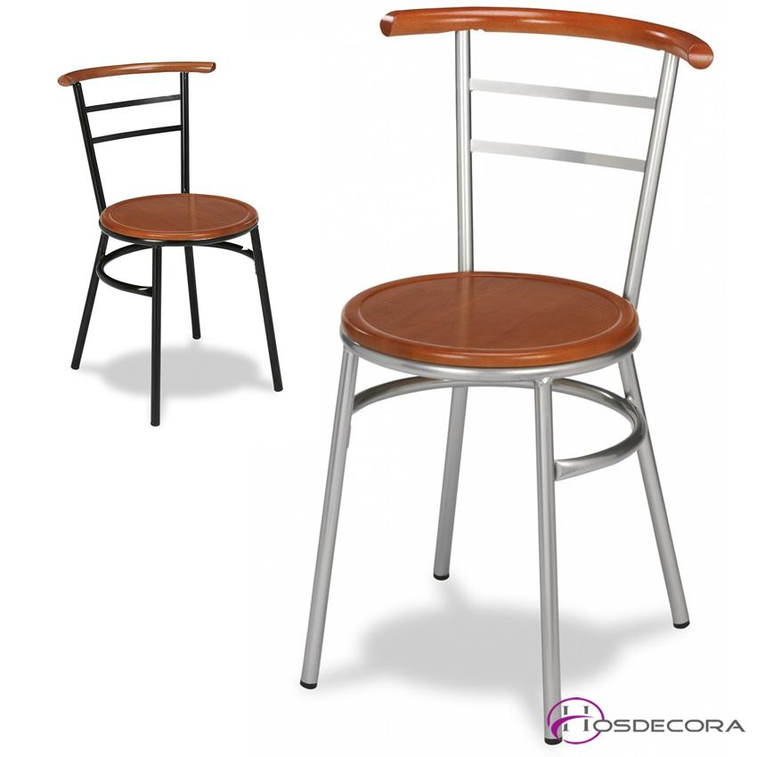 Silla de bar asiento madera - CANFRANC B