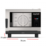Horno para cocina de restaurante MyChef 4 bandejas GN 1/1