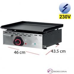 Plancha electrica para asar en cocina de bar ecoem45p