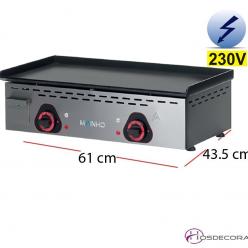 Plancha electrica para cocinas de bares negra 60pv