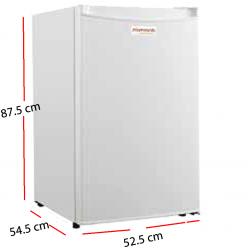 Congelador escarcha copas con puerta opaca blanca.