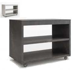Mesa de servicio melamina de 120 x 68 cm