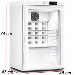 Armario refrigerado puerta cristal