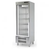 Armario de cocina en acero inox puerta cristal