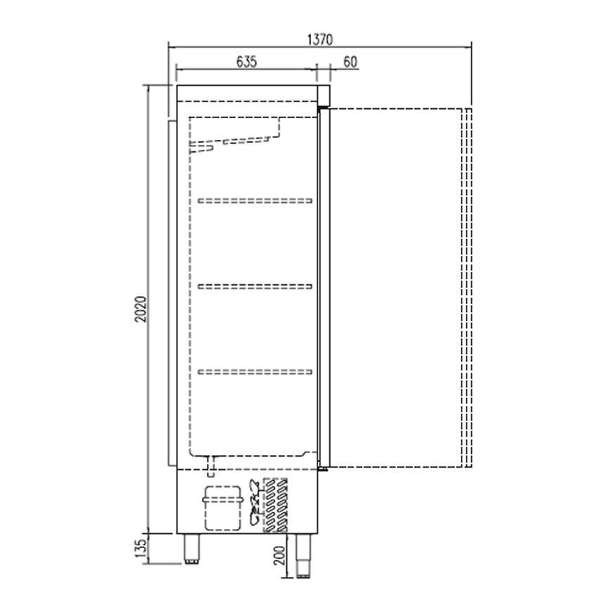 Refrigerador mixto con congelador