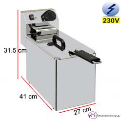 Freidora de bar eléctrica 7 Litros 3500W