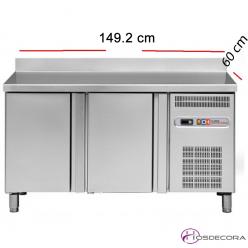 Mesa fría de cocina de 149 x 60 cm 2 puertas 47-MRCH150