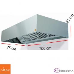 Campana inox ECO R de 100 x 75 cm.