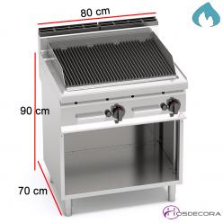 Barbacoa  a Gas Lávica Fondo 70 - 13.8 KW- PLG80M/G