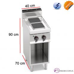 Cocina Eléctrica Fondo 70 - 2 Fuegos 5.2 KW. E7PQ2M