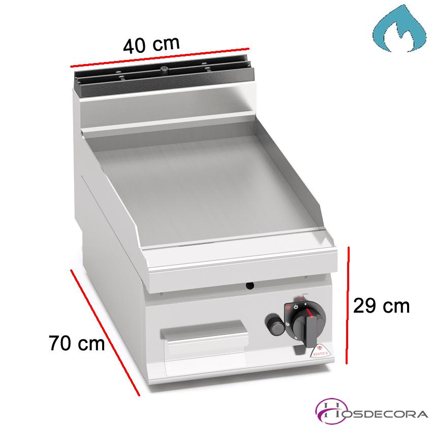 Fritop a Gas de asar Acero 5.4 KW- 15mm