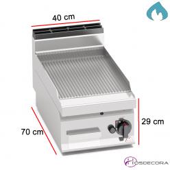 Fritop a Gas Ranurada Acero 5.4 KW- 15mm