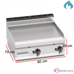 Fritop a Gas de asar Acero 0.8 KW- 7 mm.