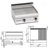 Fritop Eléctrica de asar Acero-Mixta 9.6 KW- 7 mm.