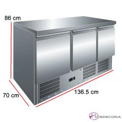 Mesa refrigerada compacta GN 1/1 fondo 70