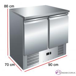 Mesa refrigerada de 2 puertas compacta GN 1/1