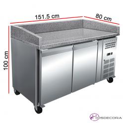 Mesa refrigerada para pizzas Euronorm encimera granito