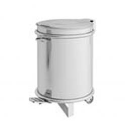 Cubo de basura en acero Inox con pedal.
