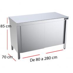 Mueble encimera central puertas f70 - Largo de 80 a 280 cm