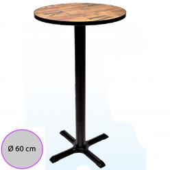 Mesa Alta de bar Tablero Melamina redondo 60 cm