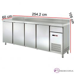 Frente mostrador refrigerado 4 Puertas en acero 47-FMCH250