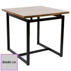 Mesa de bar Tablero Melamina 80x80 cm. DUBRA