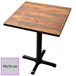Mesa cuadrada 70 x 70 cm.Melamina