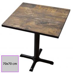 Mesa cuadrada para bar con tablero melamina.