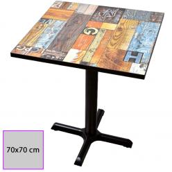 Mesa de bar 70 x 70 cm en Melamina. OLALLA