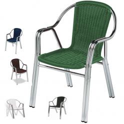 Sillon para terraza con asiento en rattan