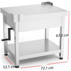 Mesa para cortadoras de fiambres con sistema de elevación