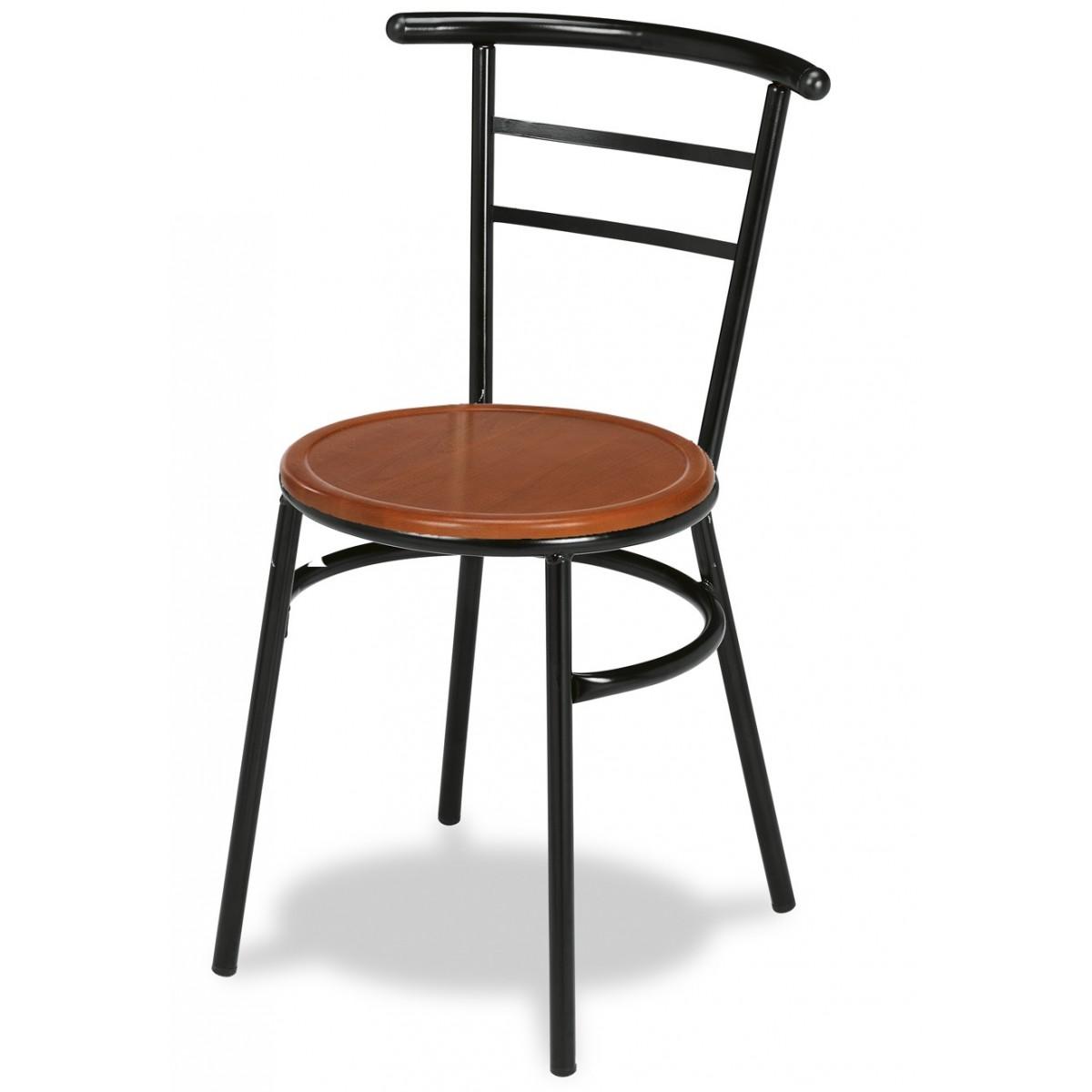 Silla para bar con asiento de madera canfranc for Sillas de madera para bar