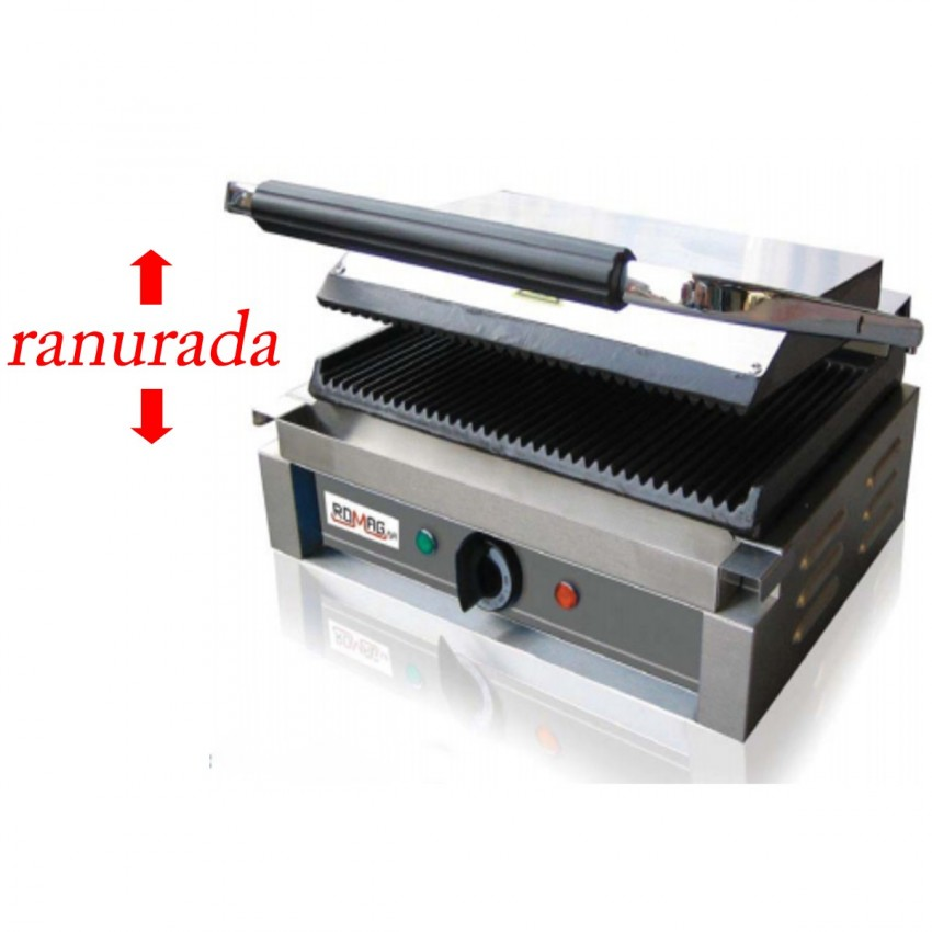 Sandwichera placa acanalada 292x395 - 1800 W para hostelería.