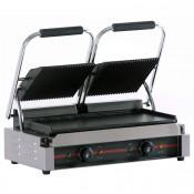 Plancha grill doble 47.5 x 23 cm -2.2 kw -ranurada 16GR475RR