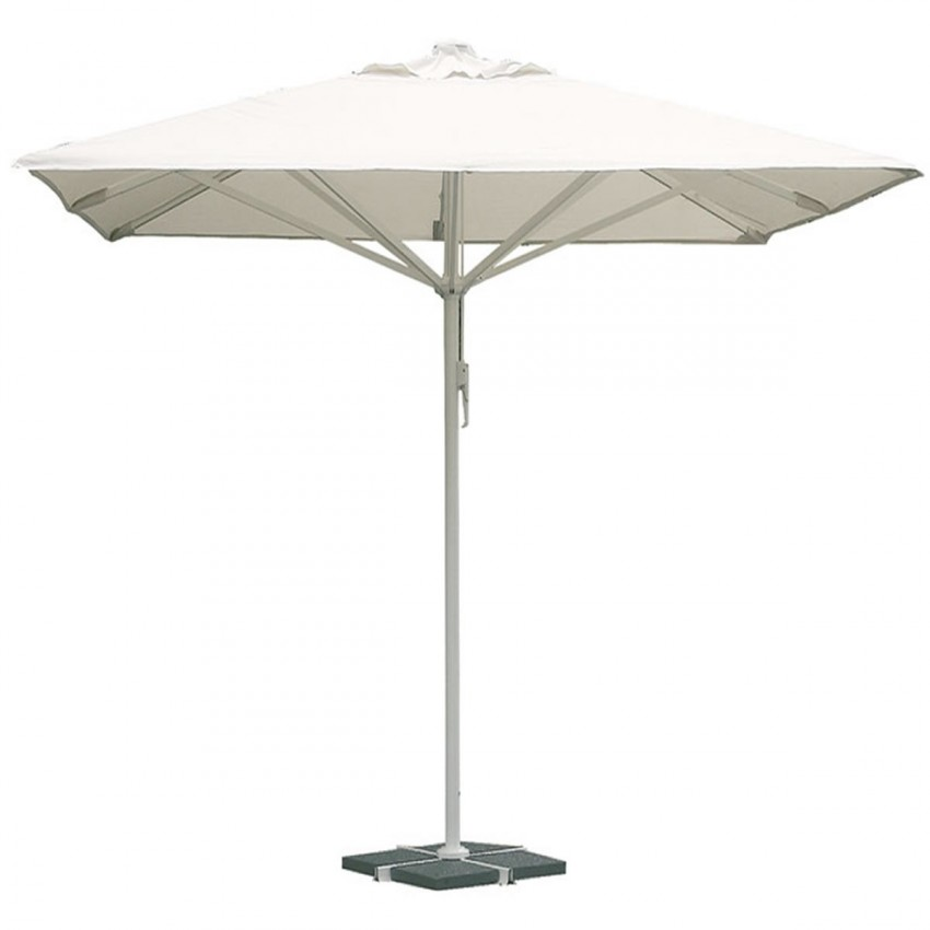 Parasol para terraza cuadrado de 4 x 4 m