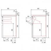 Mueble cafetera y molinos con posero 1375x600x1040